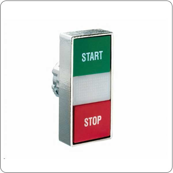 Double-touch actuators, spring return, white indicator