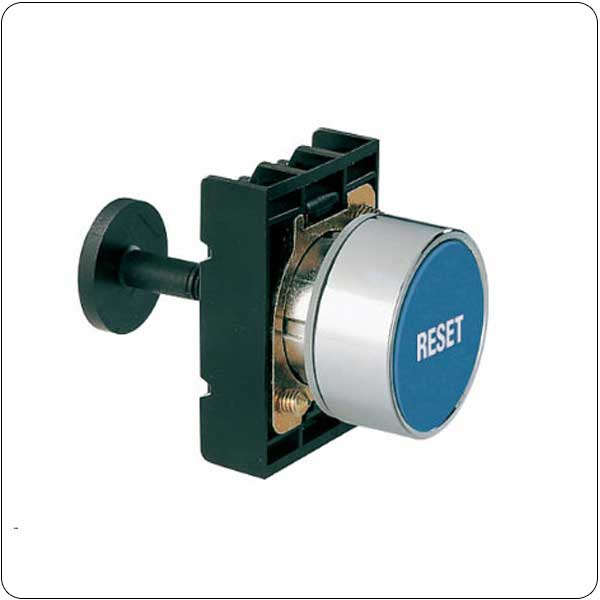 Mechanical reset buttons, complete unit, spring return