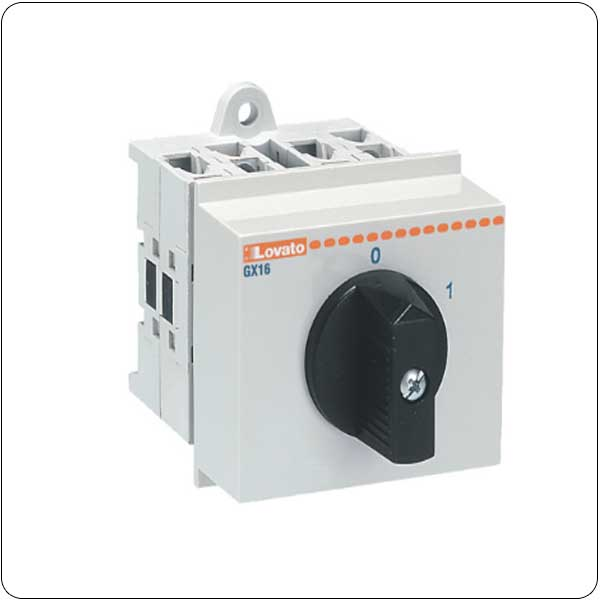 O48 version modular service cover 35mm DIN rail mount. Changeover switches