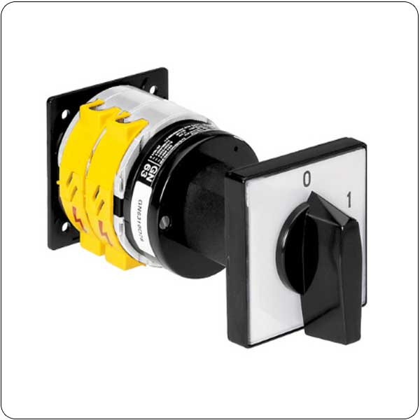 O68-O78-O79 version, rear mount, door-coupling system. ON/OFF switches