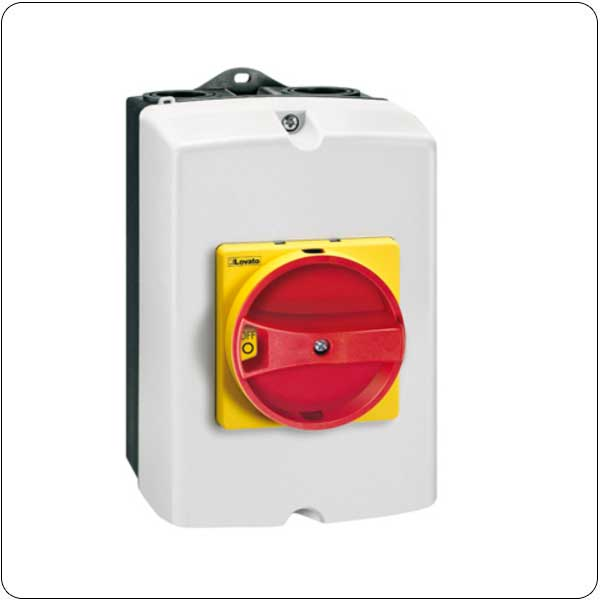 Three pole. With rotating red/yellow handle