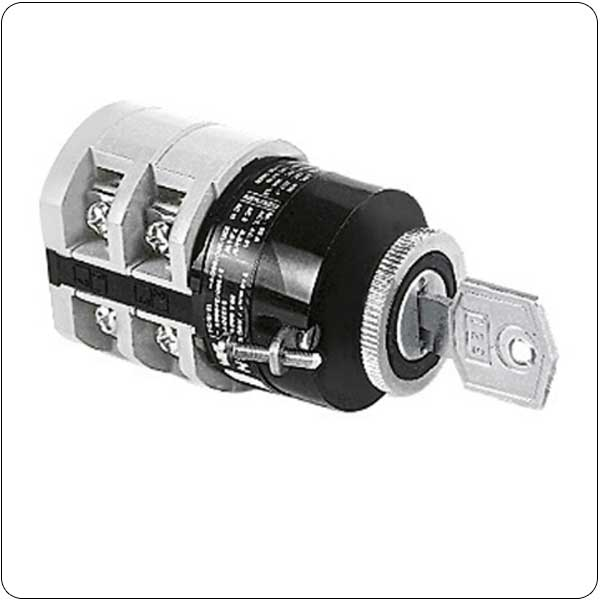 U12 version front mount with key operation for 22mm central fixing. ON/OFF switches