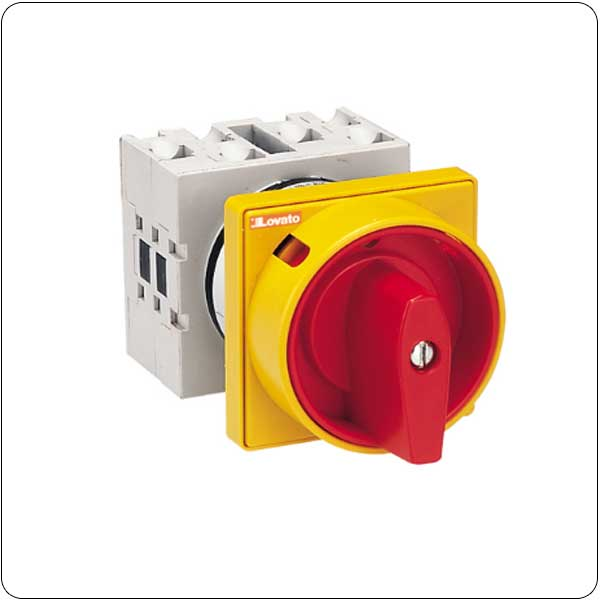 U25-U65 versions front mount with red/yellow padlock system. ON/OFF switches