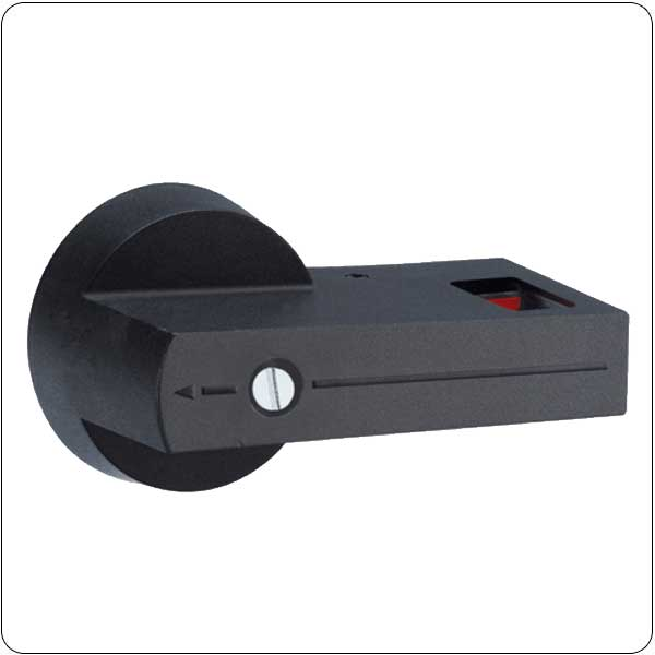 Direct operating lever handle, padlockable.Rotating type with screw fixing on switch disconnector